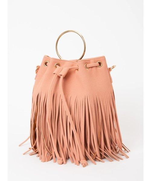 フリンジ巾着BAG