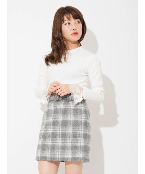 バックベルト付きタイトスカート