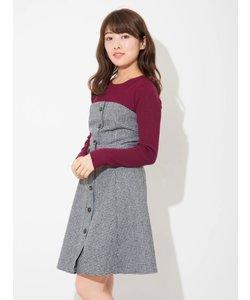 【CanCam掲載】ニット&ベアワンピースセットアップ