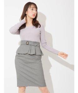 ぺプラムベルトタイトスカート