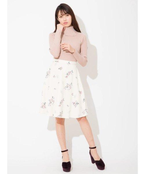 飛び花フレアスカート