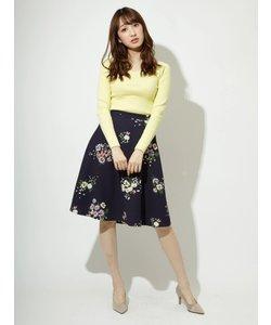 オリジナル飛び花フレアスカート