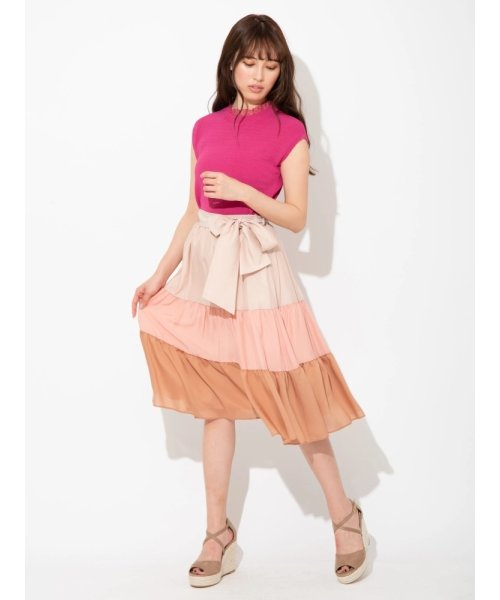ティアードバイカラースカート
