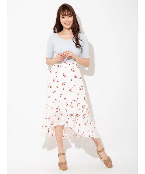 フルーツミックスロングスカート
