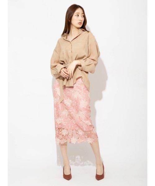 オリジナルフラワーレースタイトスカート