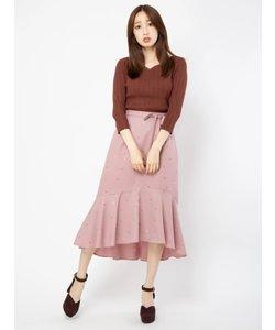 アップルプリントロングスカート