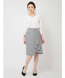 ラッフルラップタイトスカート