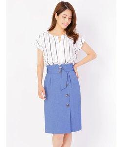アシメボタンタイトスカート