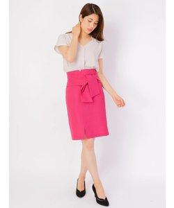 前リボンスリットタイトスカート