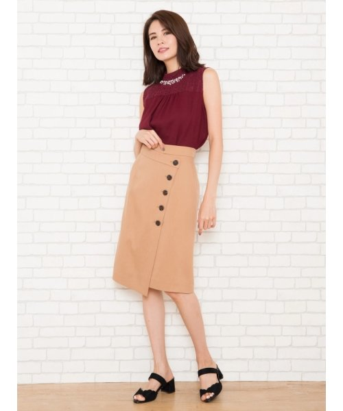 ラップタイトボタンスカート