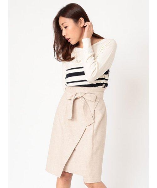 ラメツイードラップタイトスカート