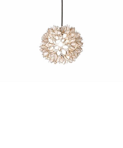 シェル フラワーランプ(S)ホワイト/コード(100cm):ブラック/LED電球