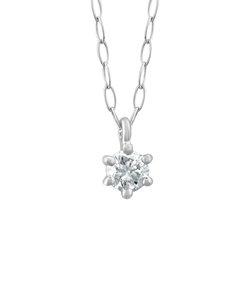 【WEB限定商品】K18 ホワイトゴールド ダイヤモンド ネックレス(0.06ct)