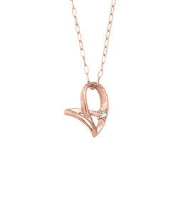 【WEB限定商品】K10 ピンクゴールド ダイヤモンド ネックレス