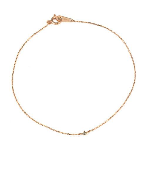 K10 ピンクゴールド ダイヤモンド シンプル ブレスレット
