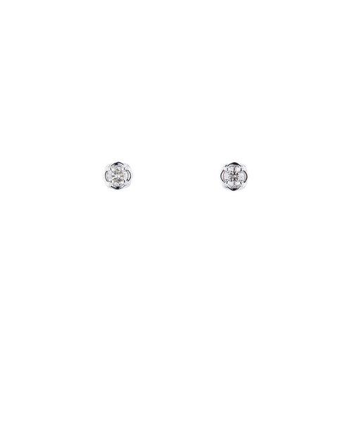 K18 ホワイトゴールド ダイヤモンド ピアス