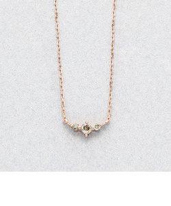 K10 ピンクゴールド ブラウンダイヤモンド ネックレス