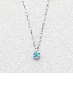 K10 ホワイトゴールド ブルーダイヤモンド ネックレス
