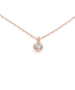 K10 ピンクゴールド ダイヤモンド ネックレス(0.05ct)