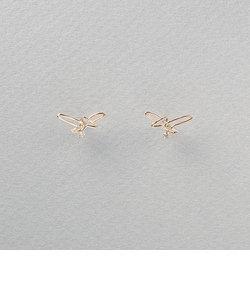 K10 イエローゴールド ダイヤモンド プテラノドン ピアス