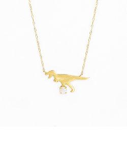 【インスタで話題!】【ドラマ着用】10月誕生石 K10 イエローゴールド オパール ティラノサウルス ネックレス