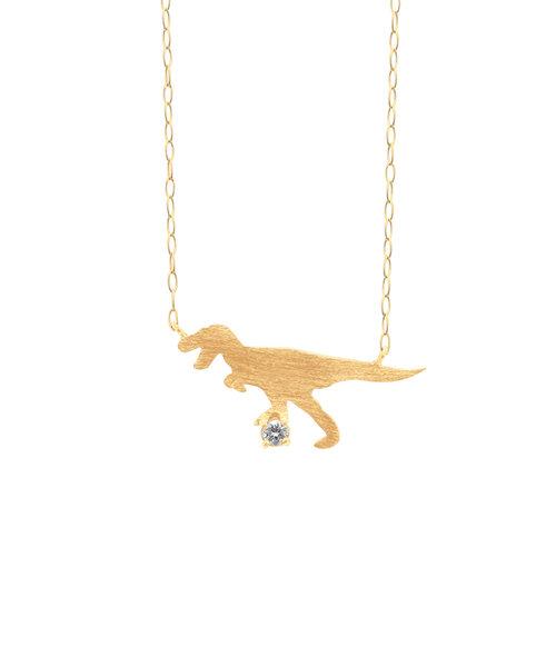 【WEB限定商品】K10 イエローゴールド ダイヤモンド ティラノサウルス ネックレス