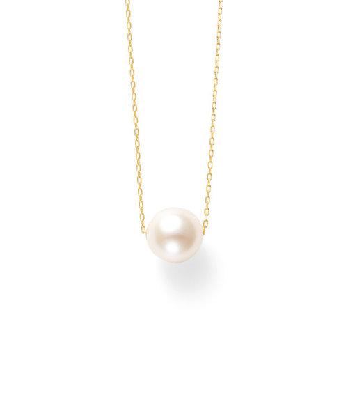 【インスタで話題!】【ドラマ着用】6月誕生石 K18 イエローゴールド あこや真珠 ネックレス