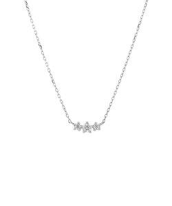 【インスタで話題!】プラチナ ダイヤモンド ネックレス(0.1ct)<鑑別カード/スコープ付>