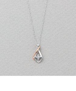K10ホワイトゴールド/ピンクゴールド ダイヤモンド ネックレス