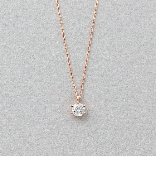 K10 ピンクゴールド ダイヤモンド ネックレス(0.10ct)