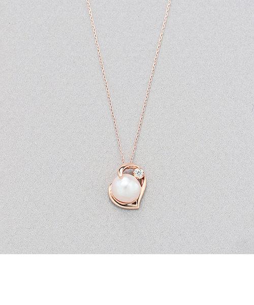 6月誕生石 K10 ピンクゴールド あこや真珠 ネックレス