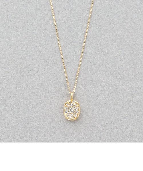K18 イエローゴールド ダイヤモンド ネックレス