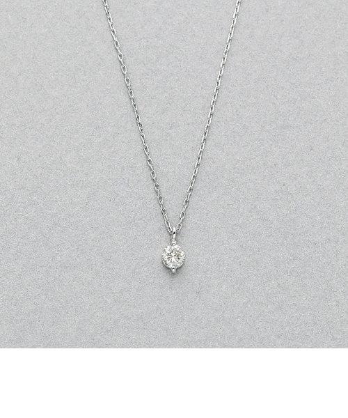 プラチナ ダイヤモンド ネックレス(0.10ct)