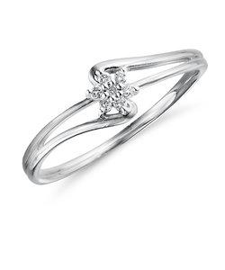 K10 ホワイトゴールド ダイヤモンド リング