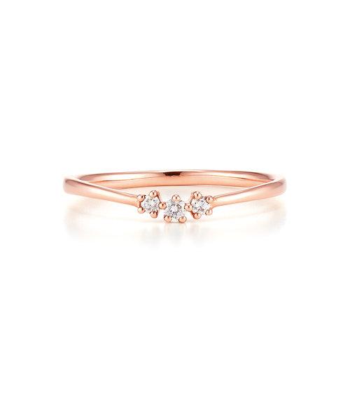 K10 ピンクゴールド ダイヤモンド リング