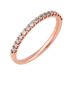 K18 ピンクゴールド ダイヤモンド リング