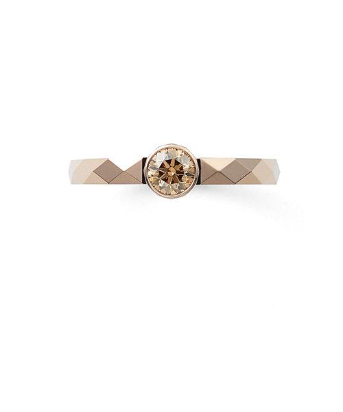 K18 イエローゴールド ダイヤモンド リング(0.3ct)