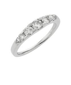 プラチナ ダイヤモンド リング(トータル0.50ct)