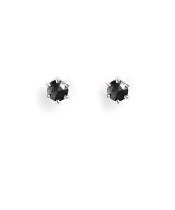 K18 ホワイトゴールド ブラックダイヤモンド ピアス(0.2ct)