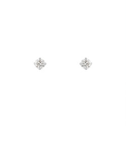 K10 ホワイトゴールド ダイヤモンド ピアス