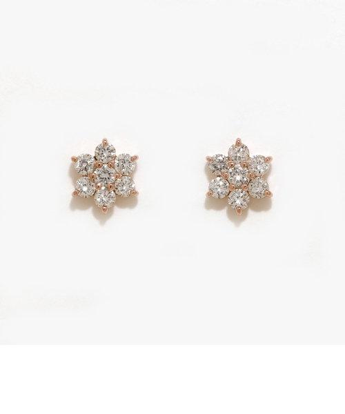 K18 ピンクゴールド ダイヤモンド ピアス(0.3ct)