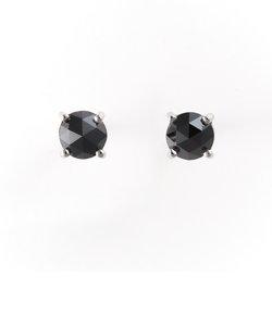 プラチナ ブラックダイヤモンド ピアス(0.5ct)
