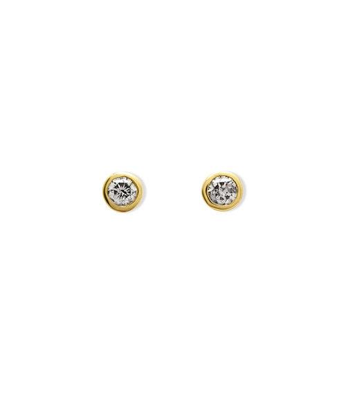 K10 イエローゴールド ダイヤモンド ピアス