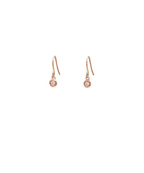 K18 ピンクゴールド ダイヤモンド ピアス