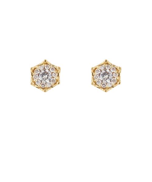 K18 イエローゴールド ダイヤモンド ピアス(0.3ct)