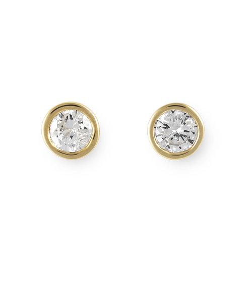 【WEB限定商品】K18 イエローゴールド ダイヤモンド ピアス(0.26ct)