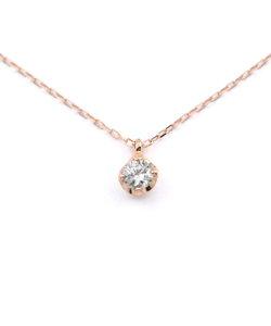 K10 ピンクゴールド ダイヤモンド ネックレス(0.1ct)