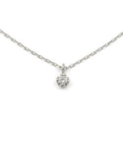 K10 ホワイトゴールド ダイヤモンド ネックレス(0.03ct)