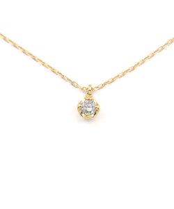 K10 イエローゴールド ダイヤモンド ネックレス(0.05ct)