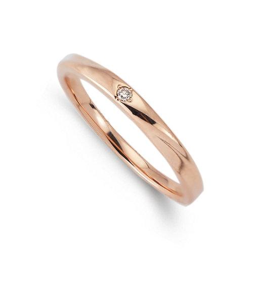 K10 ピンクゴールド ダイヤモンド ペアリング
